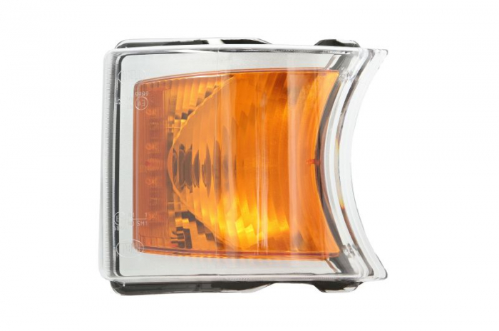 Lampa Semnalizator fata stanga/dreapta culoare sticla: portocaliu, LED/P21W, argintiu SCANIA P,G,R,T dupa 2003 [0]