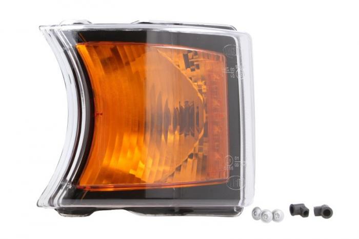 Lampa Semnalizator fata stanga/dreapta culoare sticla: portocaliu, LED/P21W, fundal negru SCANIA P,G,R,T dupa 2003 [0]