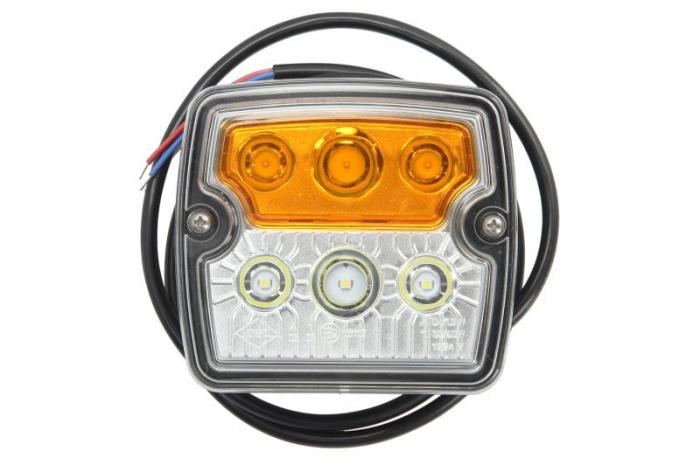 Lampa Semnalizator fata stanga/dreapta culoare sticla: portocaliu/transparent, LED, cu Lumini pozitie [0]