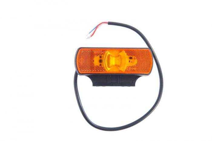 Lumini marcaj spate stanga/dreapta portocaliu, LED, inaltime 44; latime 122; adancime 19, suprafata, lungime furtun 500, 2/24V 0