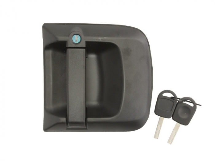Maner usa dreapta exterior cu chei, cu incuietoare, negru MAN TGA, TGL, TGM, TGS, TGX dupa 2000 0