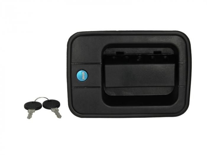 Maner usa stanga exterior cu chei, cu incuietoare, negru IVECO EUROCARGO I-III intre 1991-2005 [0]