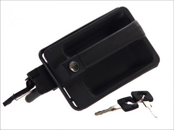 Maner usa stanga exterior cu chei, cu incuietoare, negru MERCEDES MK, NG, SK 0