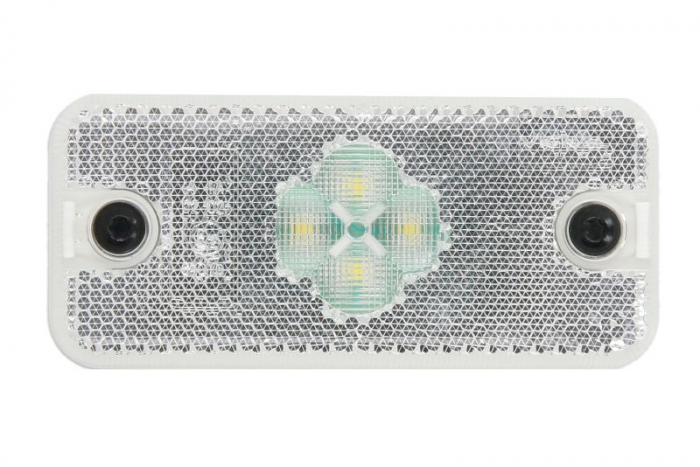 Reflector alb dreptunghiular LED-24V 110x50x18mm 0