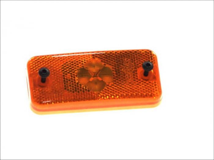 Reflector dreptunghiular portocaliu 4xLED - 12V [0]