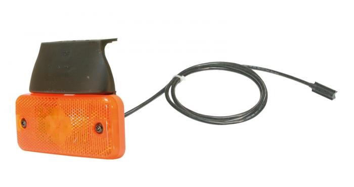 Reflector portocaliu LED 24V cu 500mm cablu si conector AP [0]