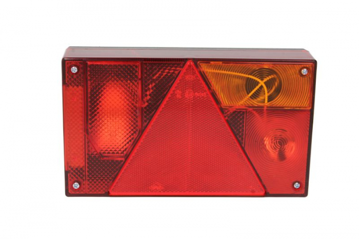 Stop lampa spate dreapta MULTIPOINT I cu bulb deschis 12/24V, semnalizator, anti-Proiectoare ceata, lampa stop, lumina parcare, triunghi reflector, 5 pini soclu, fara bulb 1