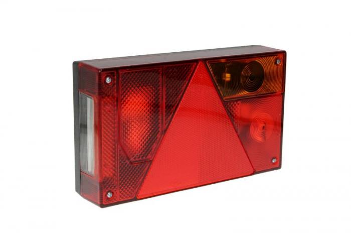 Stop lampa spate dreapta MULTIPOINT I cu bulb deschis 12/24V, semnalizator, anti-Proiectoare ceata, lampa stop, lumina parcare, triunghi reflector, cu fire fara bulb 0