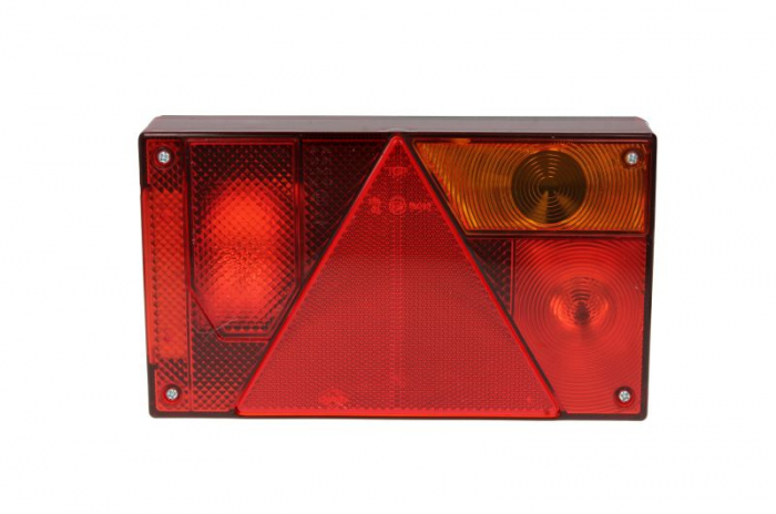 Stop lampa spate dreapta MULTIPOINT I cu bulb deschis 12/24V, semnalizator, anti-Proiectoare ceata, lampa stop, lumina parcare, triunghi reflector, cu fire fara bulb 1