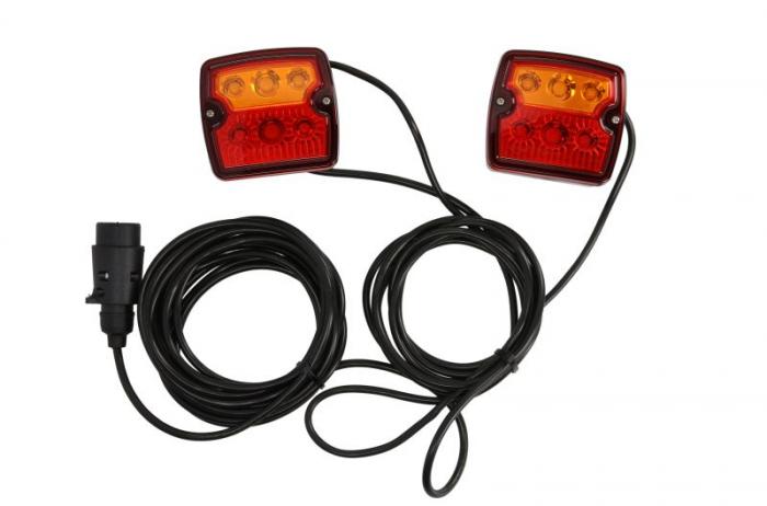 Stop lampa spate stanga/dreapta LED, 12/24V, semnalizator, lampa stop, lumina parcare, fire 7m, cu a 7 pini soclu 0