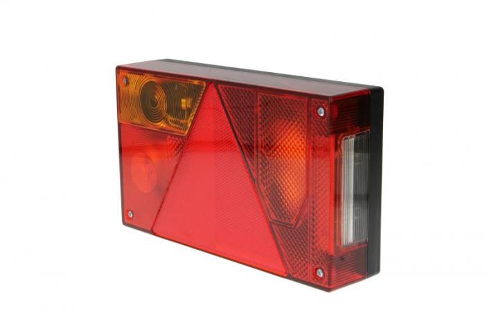 Stop lampa spate stanga MULTIPOINT I cu bulb deschis 12/24V, semnalizator, anti-Proiectoare ceata, lampa stop, lumina parcare, triunghi reflector, 5 pini soclu, fara bulb 0