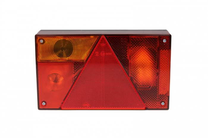 Stop lampa spate stanga MULTIPOINT I cu bulb deschis 12/24V, semnalizator, anti-Proiectoare ceata, lampa stop, lumina parcare, triunghi reflector, 5 pini soclu, fara bulb 1