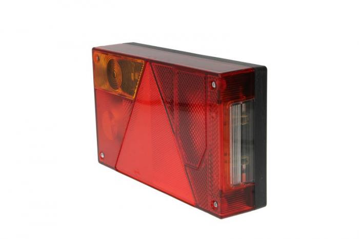 Stop lampa spate stanga MULTIPOINT I cu bulb deschis 12/24V, semnalizator, anti-Proiectoare ceata, lampa stop, lumina parcare, triunghi reflector, cu fire fara bulb 0