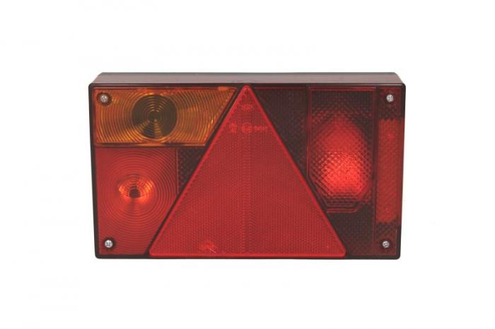 Stop lampa spate stanga MULTIPOINT I cu bulb deschis 12/24V, semnalizator, anti-Proiectoare ceata, lampa stop, lumina parcare, triunghi reflector, cu fire fara bulb 1
