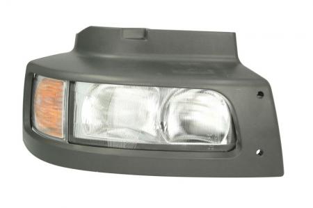 Far dreapta H1/P21W/W5W, manual cu semnalizator si rama fundal argintiu, culoare Semnalizator portocaliu RVI MIDLUM dupa 20000