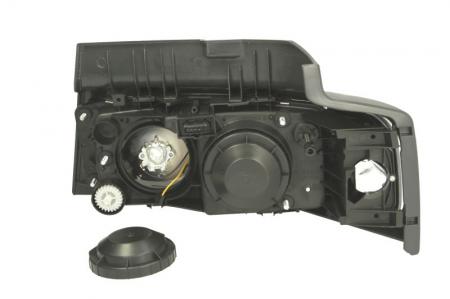Far dreapta H1/P21W/W5W, manual cu semnalizator si rama fundal argintiu, culoare Semnalizator portocaliu RVI MIDLUM dupa 20001
