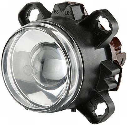 Far universal (H1, 24V, latime 112,9mm, inaltime 112,9mm, diametru 90mm, transparent, negru) MERCEDES ECONIC 2 dupa 20130