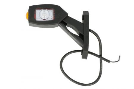 Lumini marcaj dreapta, portocaliu/rosu/alb, LED, suprafata, lungime furtun 450, brat scurt, 12/24V [1]