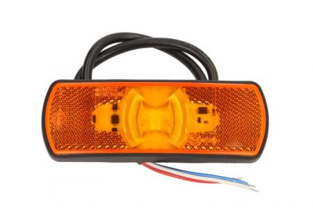 Lumini marcaj spate stanga/dreapta portocaliu, LED, inaltime 44; latime 122; adancime 19, suprafata, lungime furtun 500, 12/24V cu functie semnalizator , reflectorizant0