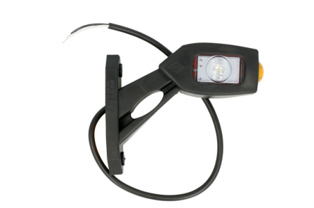 Lumini marcaj stanga, portocaliu/rosu/alb, LED, suprafata, lungime furtun 450, brat scurt, 12/24V1