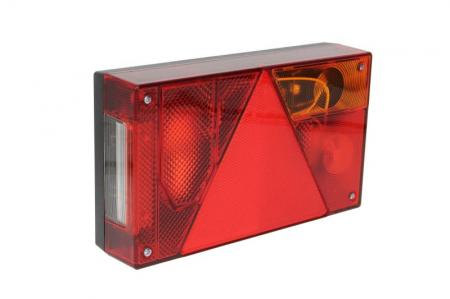Stop lampa spate dreapta MULTIPOINT I cu bulb deschis 12/24V, semnalizator, anti-Proiectoare ceata, lampa stop, lumina parcare, triunghi reflector, 5 pini soclu, fara bulb0