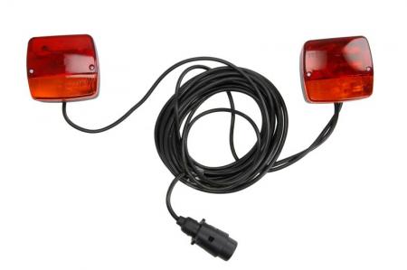 Stop lampa spate stanga/dreapta cu bulb deschis 12V, semnalizator, lampa stop, lumina parcare, fire 7m, cu a 7 pini soclu [0]