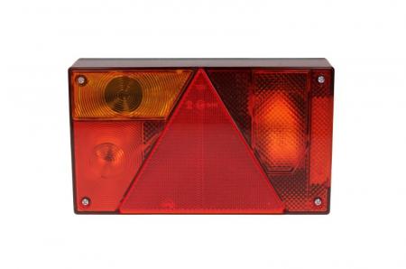 Stop lampa spate stanga MULTIPOINT I cu bulb deschis 12/24V, semnalizator, anti-Proiectoare ceata, lampa stop, lumina parcare, triunghi reflector, 5 pini soclu, fara bulb [1]
