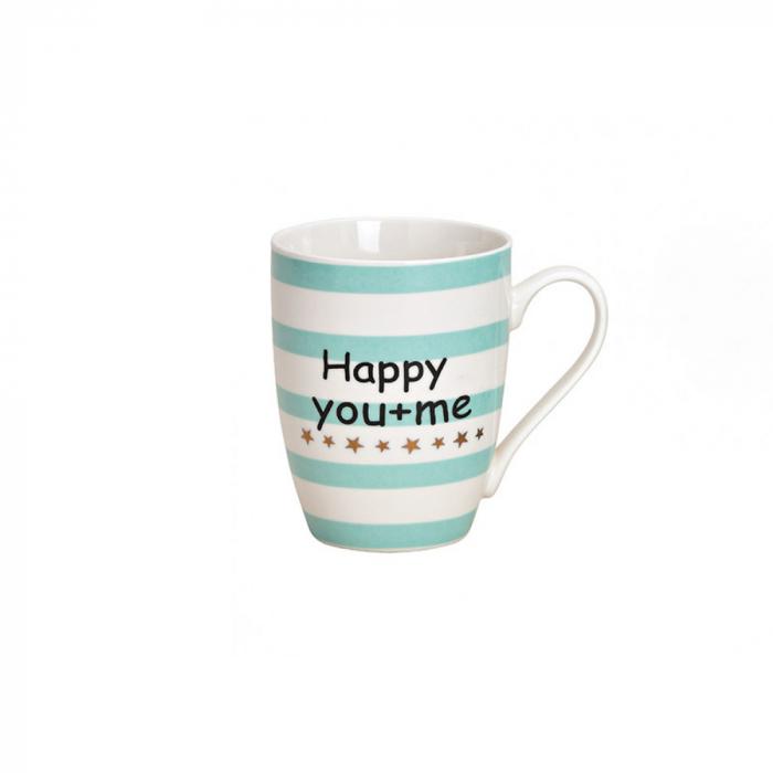 Cana ceramica Happy you & me, 300 ml [0]