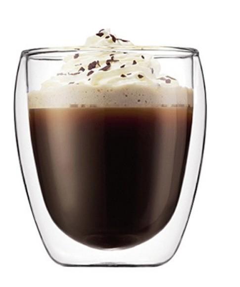 Set 6 cani de cafea din sticla cu pereti dubli, termorezistente, 250 ml, EC Design [1]