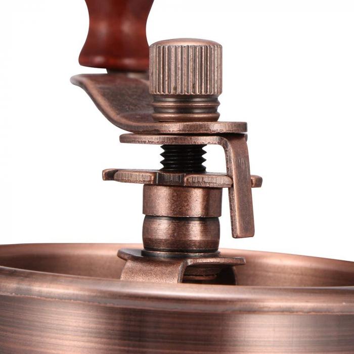 Rasnita manuala vintage din lemn, pentru cafea, condimente, nuci si ierburi, Maro [2]