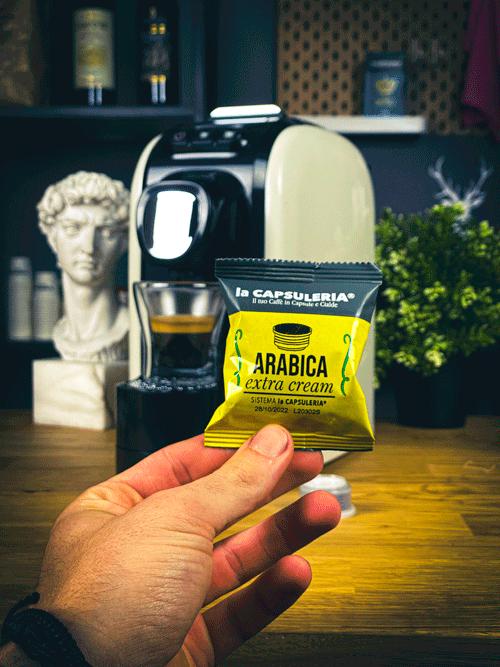 Cafea Arabica Extra Cream, 100% Arabica, 10 capsule compatibile Capsuleria [1]