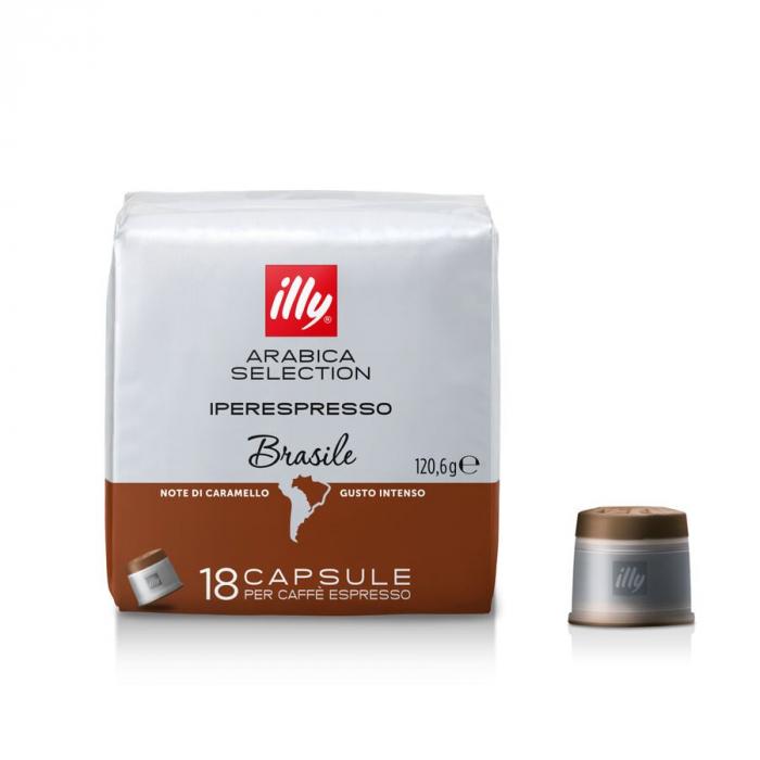 Cafea Arabica Brasile, 18 capsule Iperespresso originale Illy - Capsuleria [0]