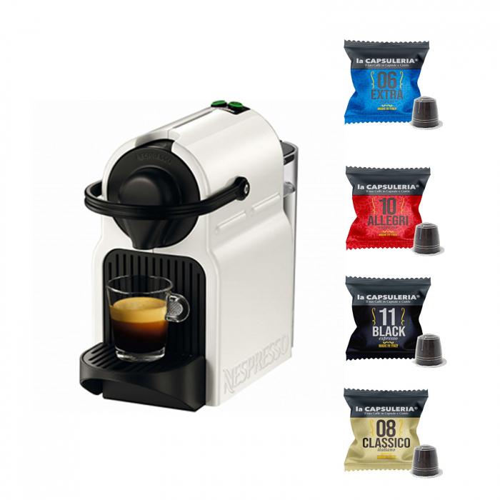 Espressor Nespresso Inissia C40-EU-WH-NE3, 19 bari, 1260 W, 0.7 l, Alb + 50 capsule cadou [0]
