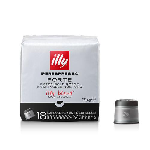 Cafea Forte, 18 capsule Iperespresso originale Illy - Capsuleria [0]