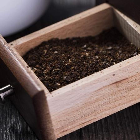 Rasnita manuala vintage din lemn, pentru cafea, condimente, nuci si ierburi, Maro [3]