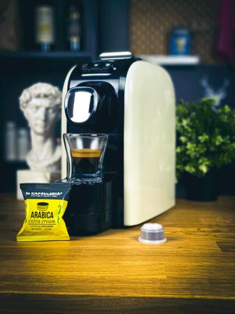 Cafea Arabica Extra Cream, 100% Arabica, 10 capsule compatibile Capsuleria [2]