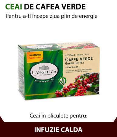 Ceai de cafea verde, 20 de pliculete, Angelica [0]