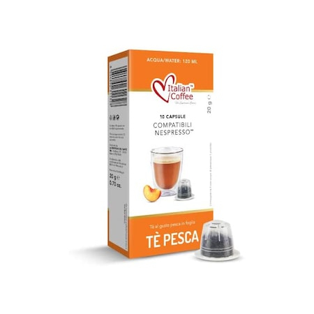 Ceai de Piersici, 10 capsule compatibile Nespresso - Capsuleria [2]