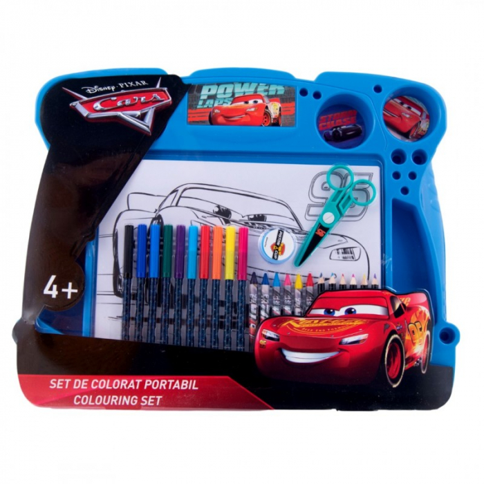 Set de colorat portabil Cars 0