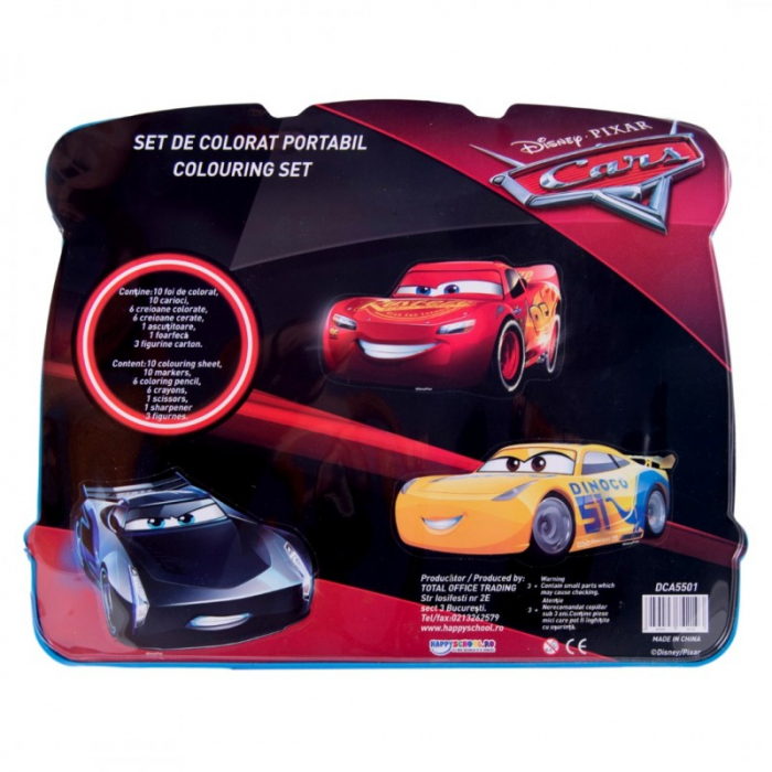 Set de colorat portabil Cars 1