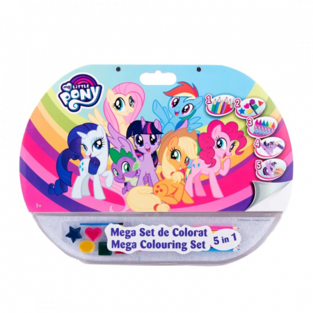 Mega set de colorat 5 in 1 My Little Pony0