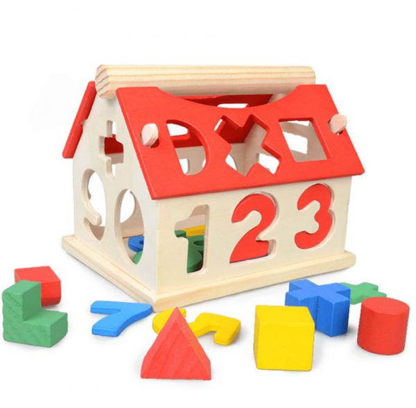 Casuta lemn cu functii de sortare si asociere numere 0