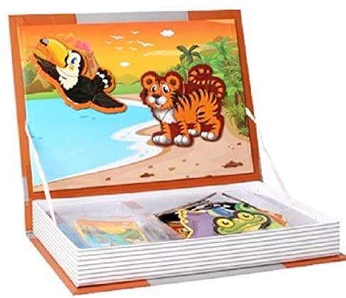 Joc educativ Carte magnetica cu piese puzzle Magnetic Book Animal Spell 0