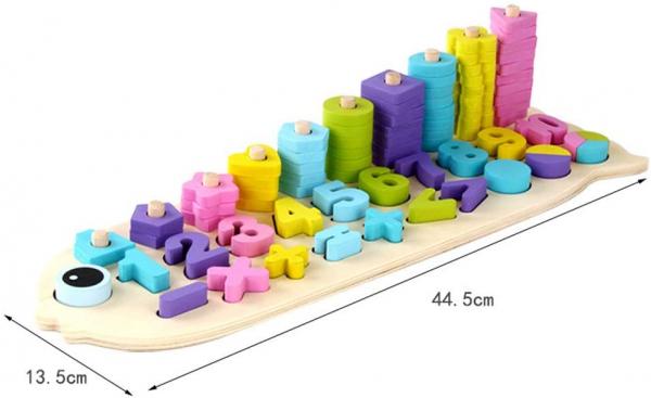 Numaratoare cu forme si numere colorate 2