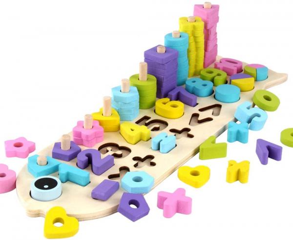 Numaratoare cu forme si numere colorate 0