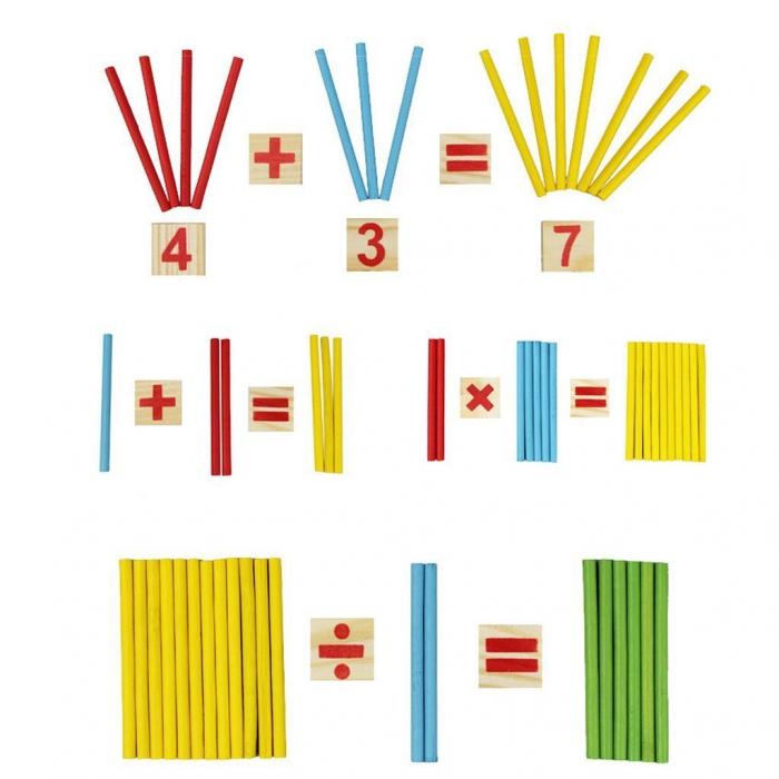 Joc din lemn Invatam operatiile matematice 5