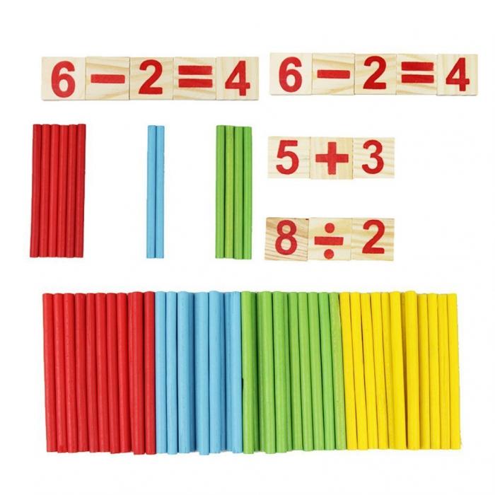 Joc din lemn Invatam operatiile matematice 4