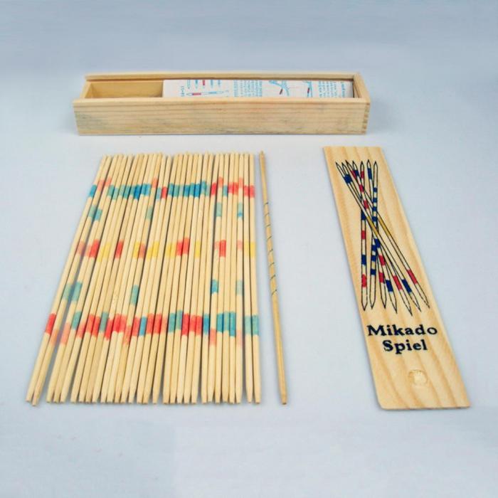 Joc cu bete si cutie  din lemn Mikado Spiel 0