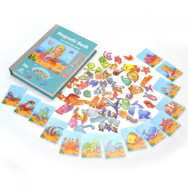Carte magnetica Animale marine Puzzle Magnetic  Book Sea Creatures Spell 3