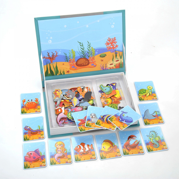 Carte magnetica Animale marine Puzzle Magnetic  Book Sea Creatures Spell 0